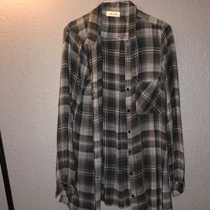 Black and gray flannel
